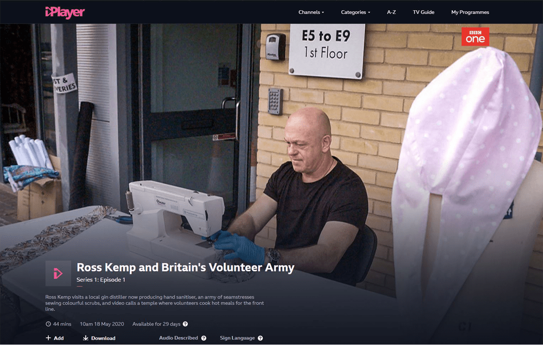 Sewing machine from Konsew LTD for Britian`s Volunteer Army, BBC